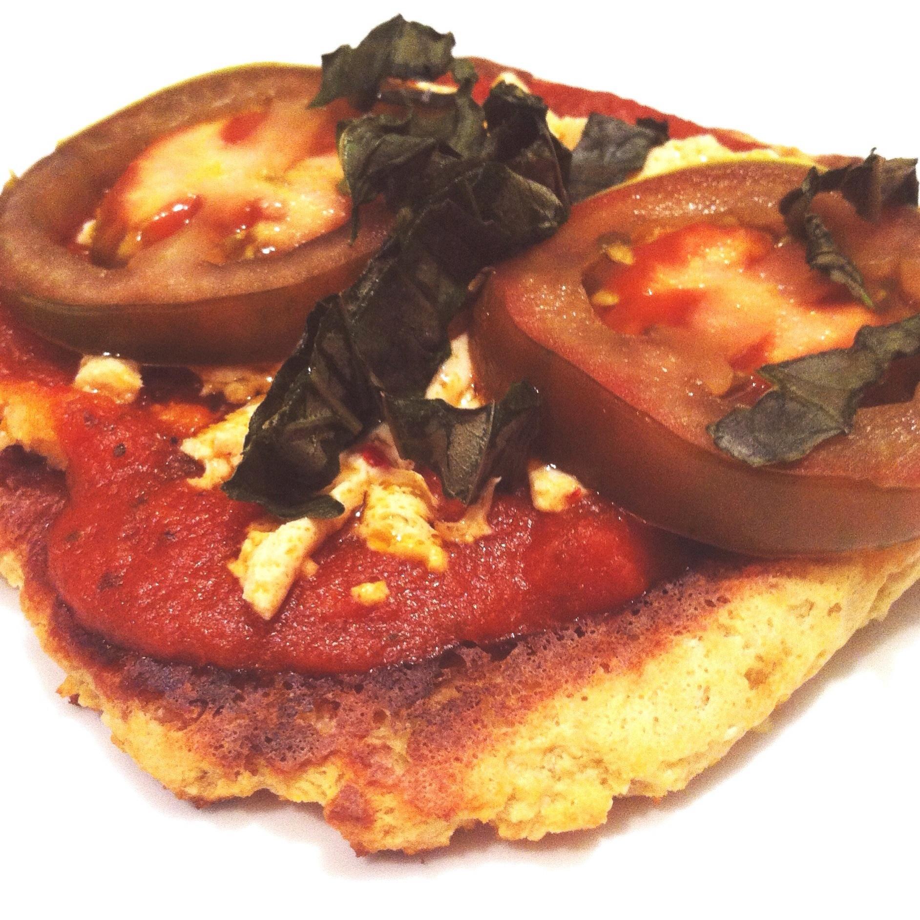 Vegan Cauliflower Tart With Tomato and Basil