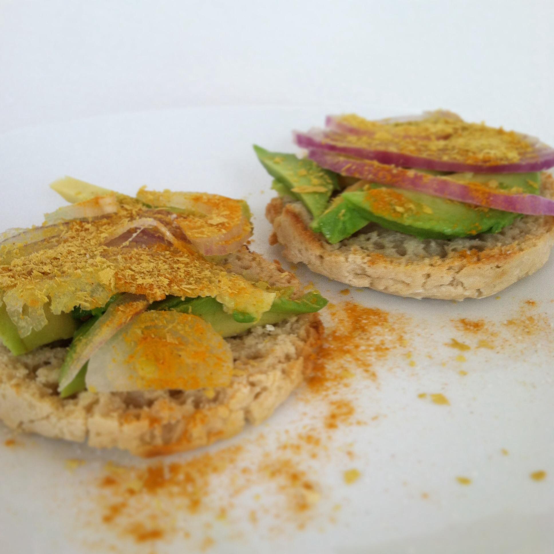 Gluten Free Avocado & Onion English Muffin