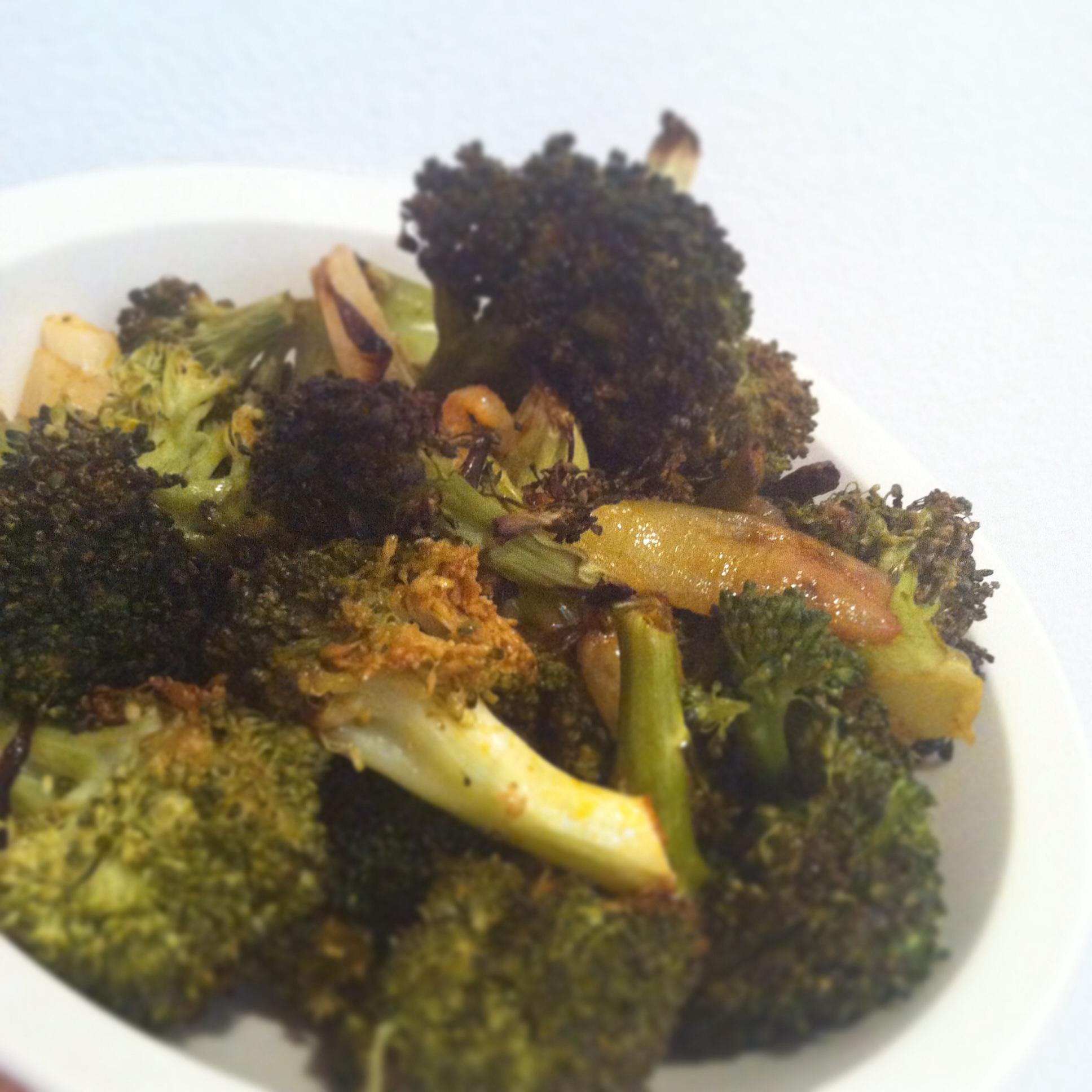 Roasted Broccoli With Buffalo Sauce