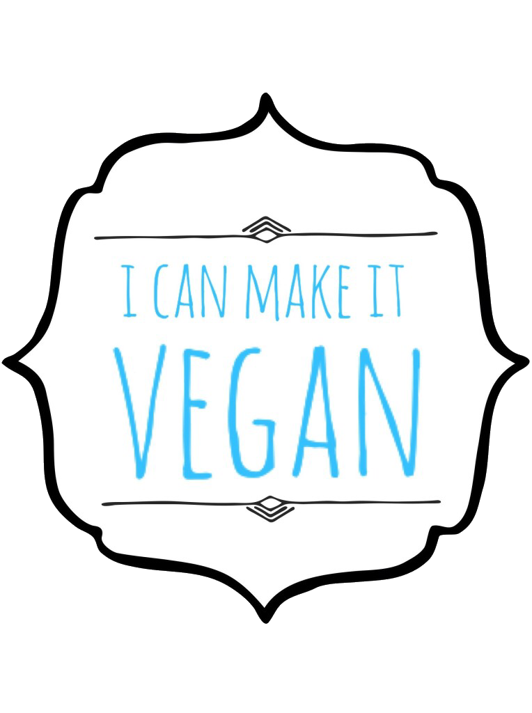 i can make it vegan