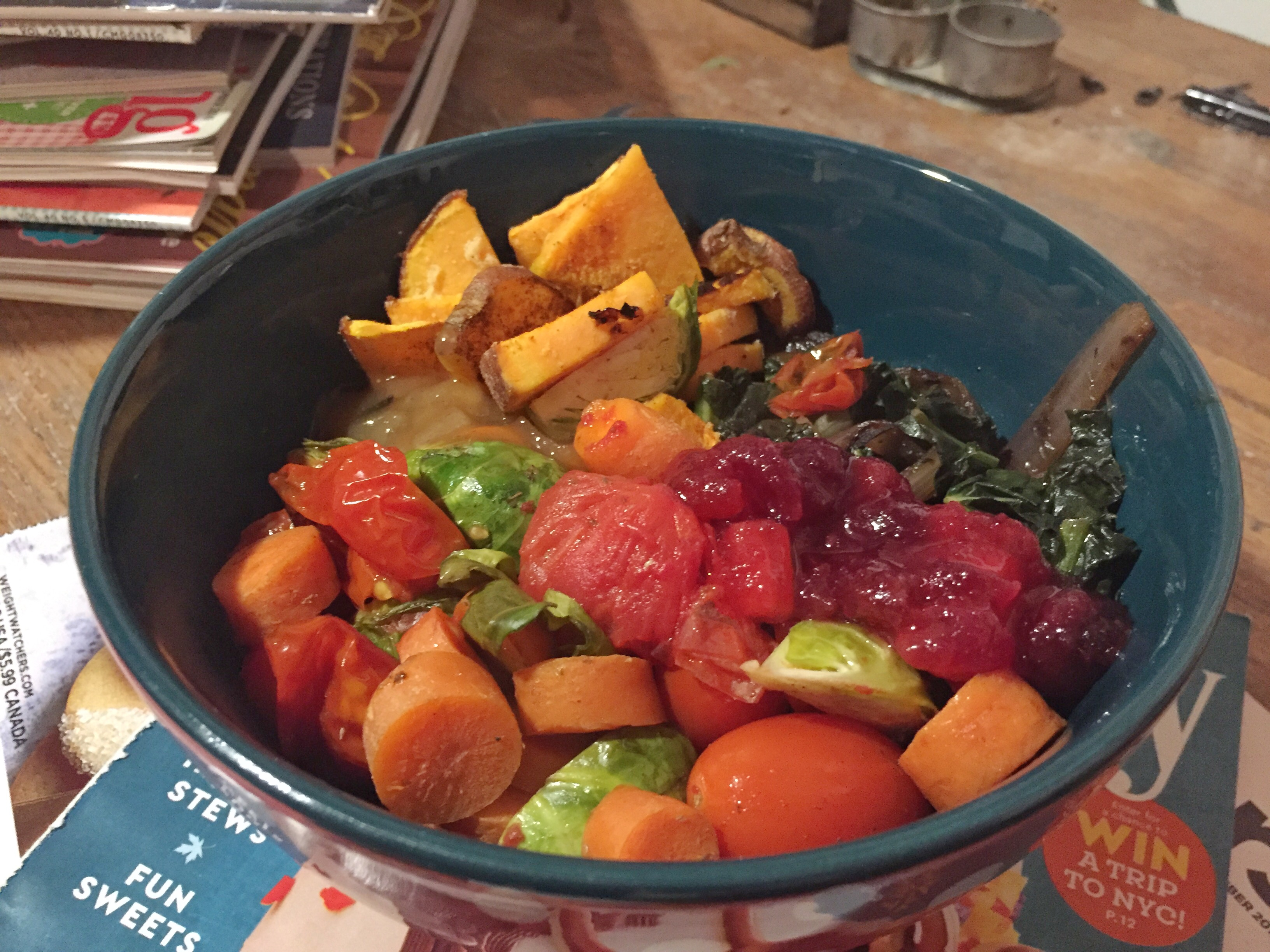 Gluten Free Thanksgiving Veggie Bowl