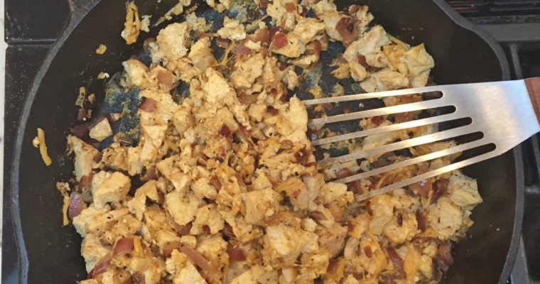 Sun Dried Tomato Tofu Scramble