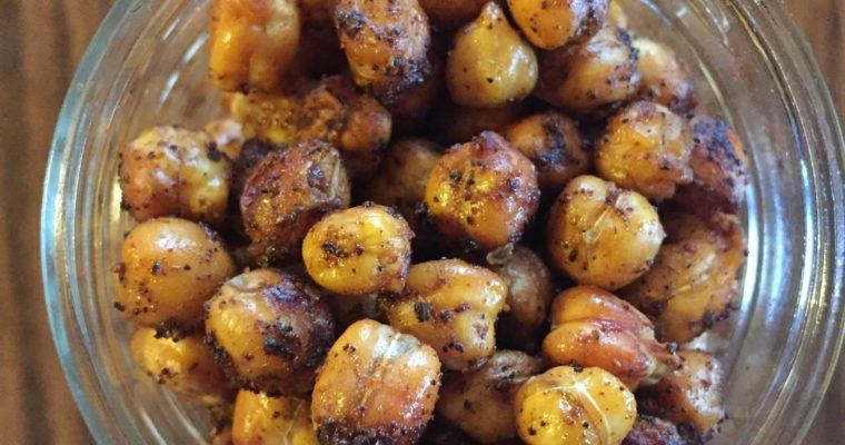 Coffee Chili Roasted Chickpeas